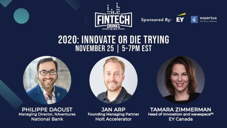 Fintech Drinks | 2020: Innovate or Die Trying
