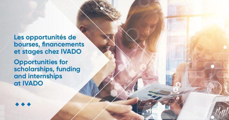 Les opportunités de bourses, financements et de stages chez IVADO